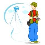 Fotograaf met Camera Royalty-vrije Illustratie