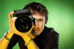 Fotograaf met camera Royalty-vrije Stock Afbeeldingen