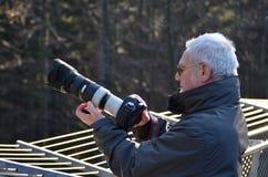 Fotograaf in nationaal park Royalty-vrije Stock Foto's