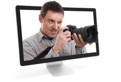 Fotograaf online Royalty-vrije Stock Afbeeldingen