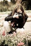 Fotograaf op de aard Stock Foto