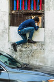 Fotograaf op de straten Stock Afbeelding