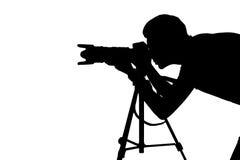 Fotograaf op het werk. royalty-vrije stock afbeelding