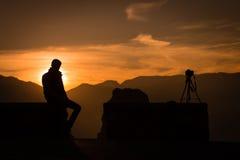 Fotograaf Silhouette Stock Fotografie
