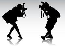 Fotograaf twee stock illustratie