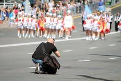 Fotograaf Working Stock Afbeeldingen
