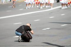 Fotograaf Working Royalty-vrije Stock Foto's