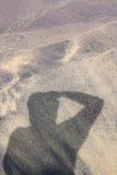 Fotograafschaduw op strand Royalty-vrije Stock Foto