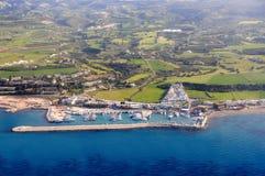 Fotografía aérea de Chipre Foto de archivo libre de regalías