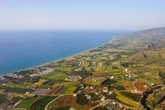 Fotografía aérea de Chipre Foto de archivo