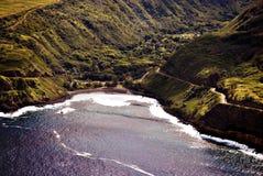 Fotografía aérea de Honokohau Maui Imagen de archivo libre de regalías