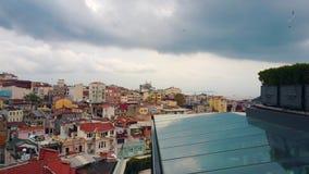 Fotografía aérea de la ciudad almacen de metraje de vídeo