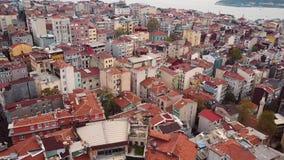 Fotografía aérea de la ciudad almacen de video