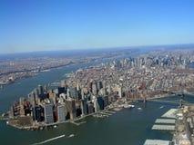 Fotografía aérea de Manhattan Imagen de archivo