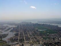 Fotografía aérea de Manhattan Imágenes de archivo libres de regalías