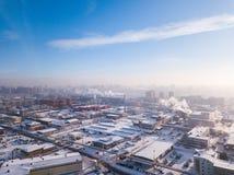 Fotografía aérea de una ciudad moderna imagen de archivo libre de regalías