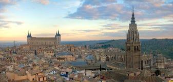 Fotografía aérea del horizonte de Toledo Fotos de archivo