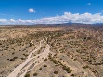 Fotografía aérea del paisaje del desierto de New México Imagenes de archivo