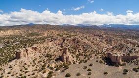 Fotografía aérea del paisaje del desierto de New México Imagen de archivo
