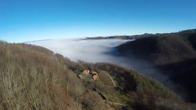 Fotografía aérea del rumano Montains Fotografía de archivo