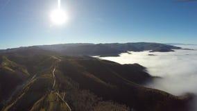Fotografía aérea del rumano Montains Imagenes de archivo