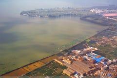 Fotografía aérea y nubes foto de archivo libre de regalías
