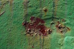 fotografía abstracta del moho en el metal Imagen de archivo