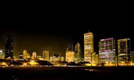Fotografía Chicago de la noche Fotografía de archivo