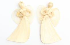 Fotografía de ángeles en el fondo blanco Imagen de archivo libre de regalías