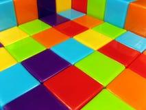 Fotografía de bloques huecos construidos Fotos de archivo