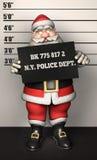 Fotografía de detenido de Santa Father Christmas Foto de archivo