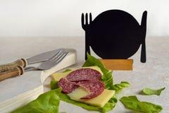 Fotografía de la comida de desayuno con el espacio para el texto foto de archivo libre de regalías