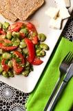 Fotografía de la comida de la ensalada de la haba Imagen de archivo