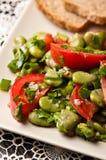 Fotografía de la comida de la ensalada de la haba Fotos de archivo
