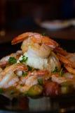 Fotografía de la comida de la entrada del camarón Foto de archivo libre de regalías