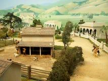 Fotografía de la diorama de Miniture Foto de archivo libre de regalías