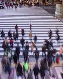 Fotografía de la falta de definición del paso de peatones Foto de archivo libre de regalías