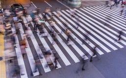 Fotografía de la falta de definición del paso de peatones Imágenes de archivo libres de regalías
