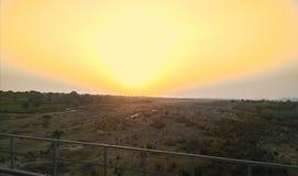 Fotografía de la naturaleza de la puesta del sol imagenes de archivo
