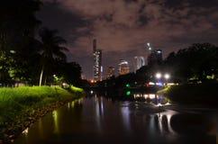 Fotografía de la noche del lago Fotografía de archivo