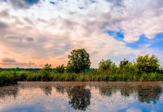 Fotografía de la opinión del paisaje del lago Fotos de archivo