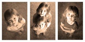 Fotografía de la secuencia de las niñas fotos de archivo
