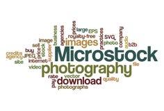 Fotografía de Microstock - nube de la palabra Foto de archivo libre de regalías