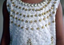 Fotografía de moda elegante de la acción del vestido de las señoras Fotografía de archivo