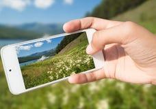 Fotografía de señales en un smartphone Fotos de archivo