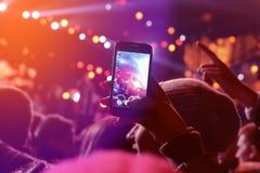 Fotografía de un concierto Fotografía de archivo libre de regalías