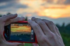 Fotografía de una puesta del sol foto de archivo