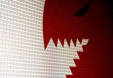 Fotografía del ordenador del ataque del virus de la pantalla llevada fotografía de archivo libre de regalías