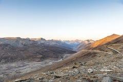 Fotografía del paisaje del paso antes de la estación del invierno, Khagan Valley, Paquistán de Babusar Imagenes de archivo