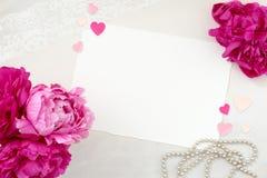 Fotografía diseñada bonita de la maqueta de los efectos de escritorio foto de archivo libre de regalías